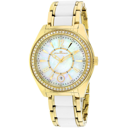OC5410 Oceanaut Womens Pearl Two-tone Gold tone White Band White Mother of Pearl Dial