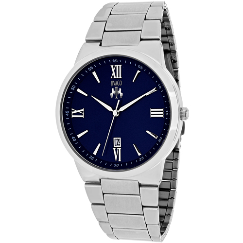 JV3517 Jivago Mens Clarity Silver Band Blue Dial