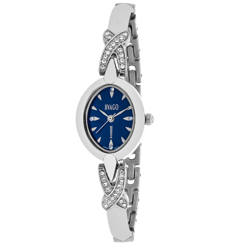 JV3611 Jivago Womens Via Quartz Silver Band Blue Dial