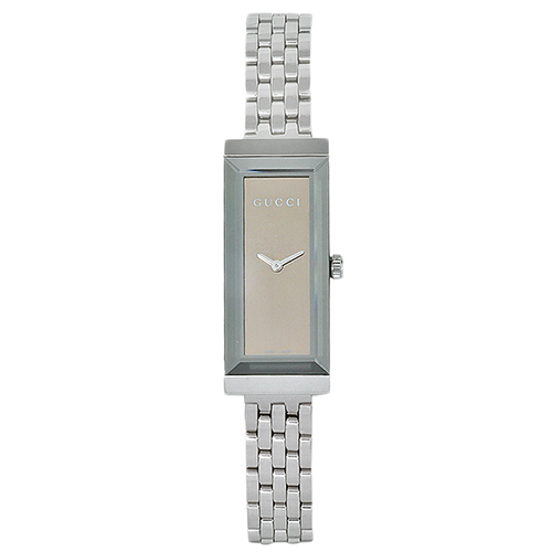 YA127501 Gucci Womens G-Frame YA127501 Quartz Silver Band Brown Dial