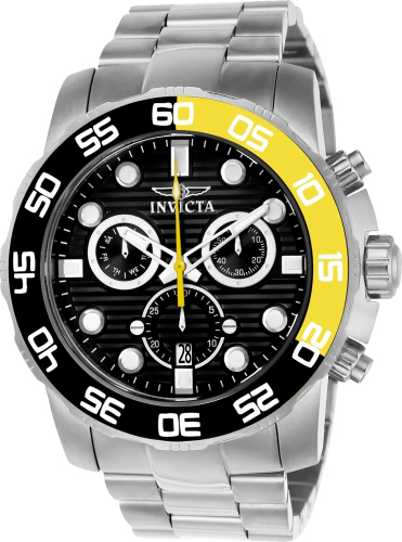 21553 Invicta Mens Pro Diver  Steel Band Black Dial