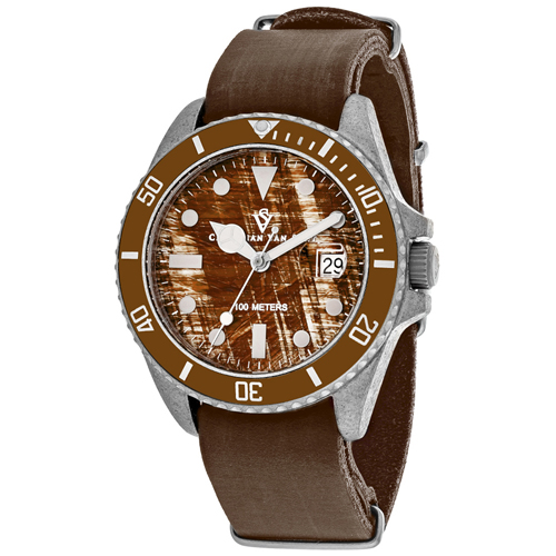 CV5201B Christian Van Sant Mens Montego Vintage Quartz Brown Band Brown Dial