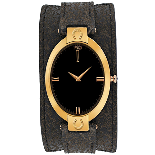 JV1834 Jivago Womens Good luck Dark brown Band Black Dial