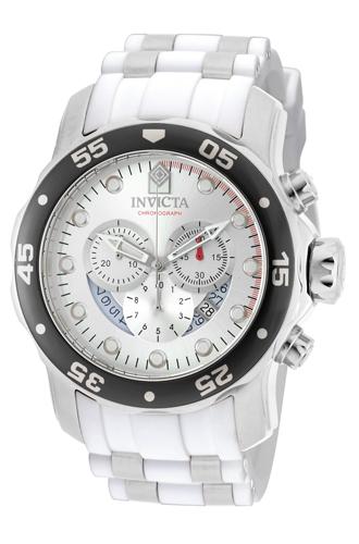 20290 Invicta Mens Pro Diver  White, Steel Band Silver Dial