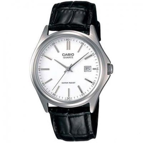 LTP-1183E-7A Casio Mens General Quartz Black Band White Dial