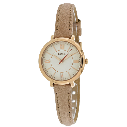 ES3802 Fossil Womens Jacqueline Beige Band Silver Dial