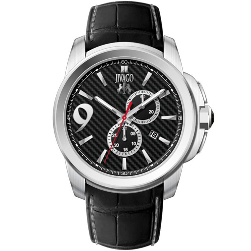 JV1517 Jivago Mens Gliese Swiss  Quartz  Black Band Black Dial