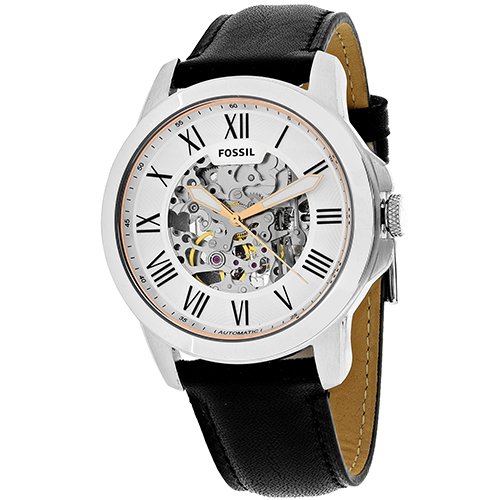 ME3101 Fossil Mens Grant Automatic Black Band White Dial