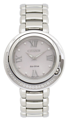 EX1120-53X Citizen Womens Classic  Quartz Silver Band Mothe rof Pearl Dial