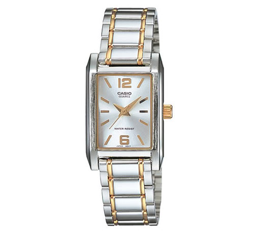 LTP-1235SG-7A Casio Womens Classic Japan Quartz Two-tone Band Silver Dial