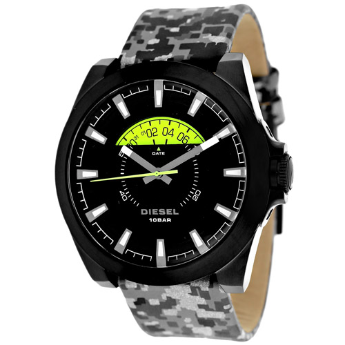 DZ1658 Diesel Mens Arges Quartz Grey-Camo Band Black Dial