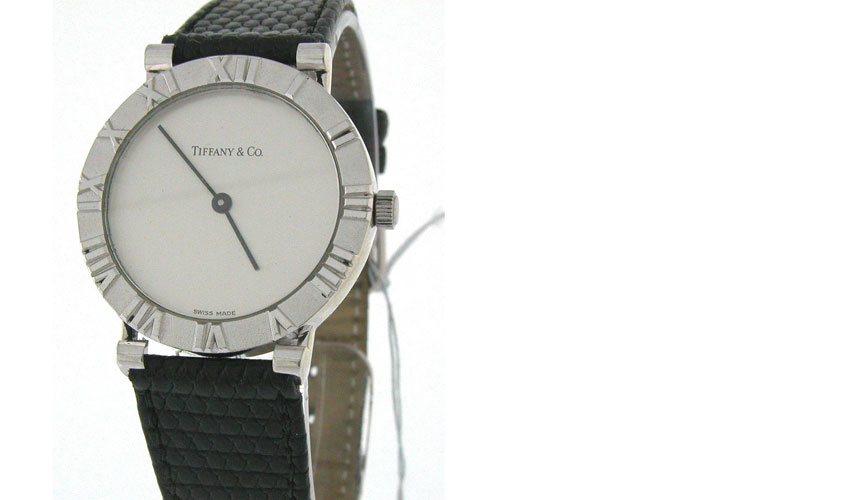 Tiffany & Co Round - Sterling Silver - Roman Numberals on bezel - Silver Dial - Quartz - gem from US collector