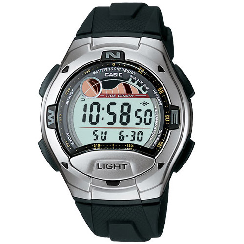 W-753-1AV Casio Mens Casual Quartz Silver Band Digital Dial