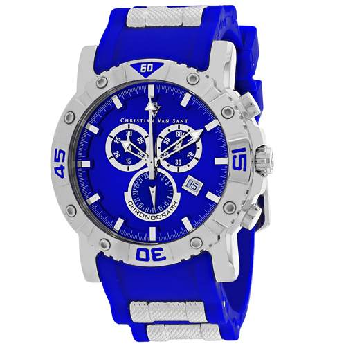 CV0512 Christian Van Sant Mens Cosenza Quartz Blue Band Blue Dial