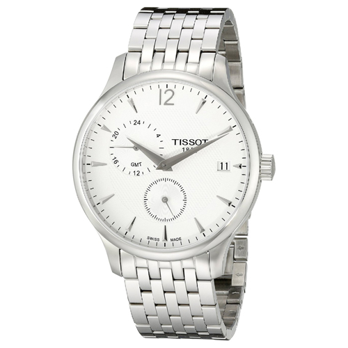 T0636391103700 Tissot Mens Tradition T0636391103700 Silver Band Silver Dial