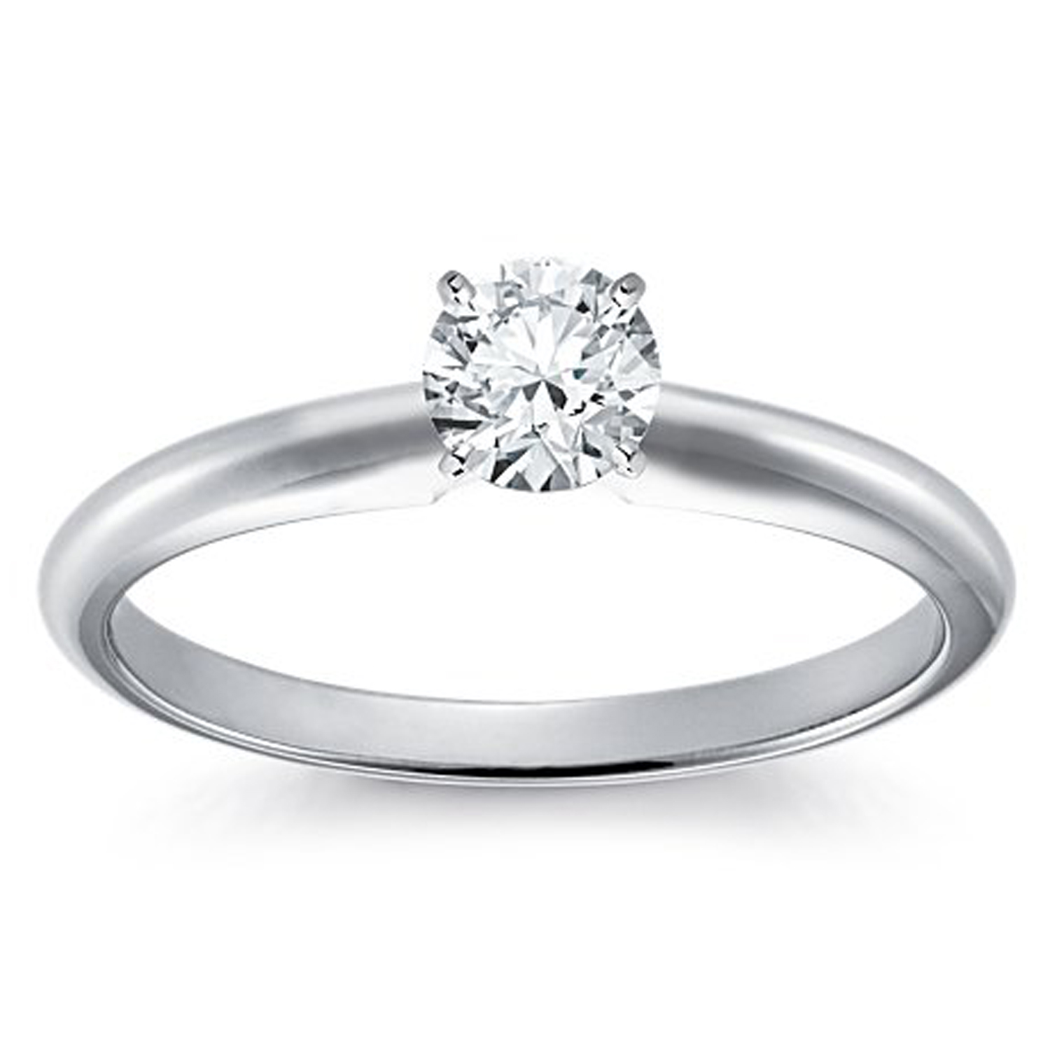SOLITARE50 14K YG OR WG  0.50 CT DIAMOND SOLITAIRE RING  SI  G TO H  IN COLOUR WITH CERTIFICATE