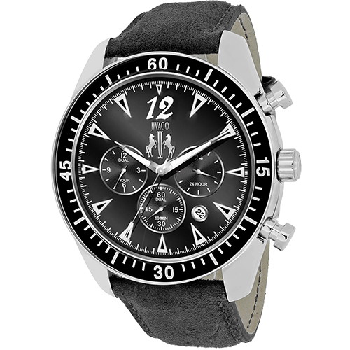 JV4511 Jivago Mens Timeless Black Band Black Dial