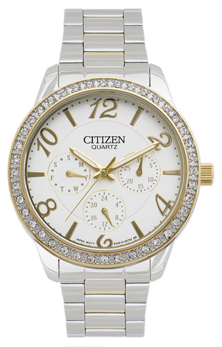 ED8124-53A Citizen Womens Classic  Quartz Black Band White Dial