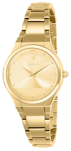 23277 Invicta Womens Gabrielle Union  Gold Band Gold Dial