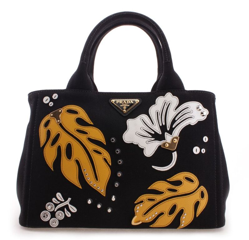 0b5e471c268c 1BG439NEROMEMOSA PRADA 1BG439-NERO+MEMOSA HANDBAG MSRP:1500 / Buy It Now: