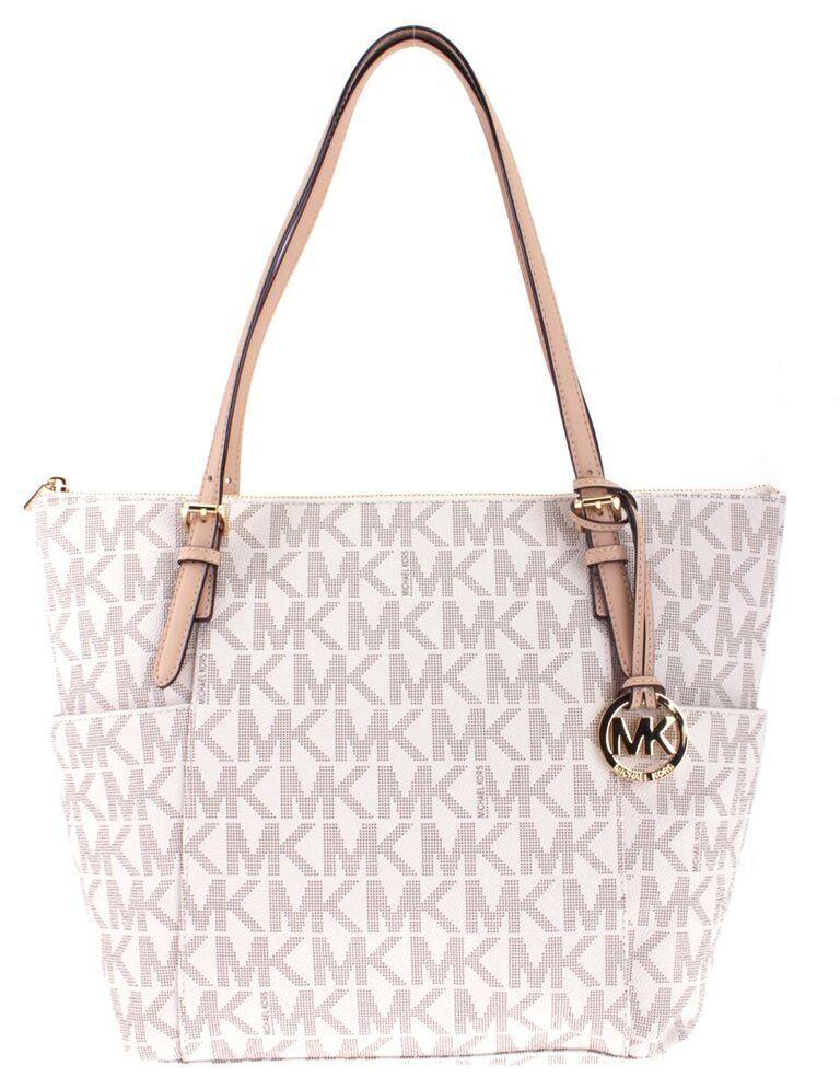 8097af0bb179 Michael Kors 35T2GTTT8B-VANILLA Handbags JET SET ITEM LARGE EW TZ TOTE MSRP:288  ...