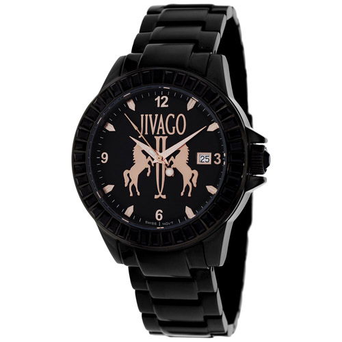 JV4211 Jivago Womens Folie Swiss  Quartz  Black Band Black Dial