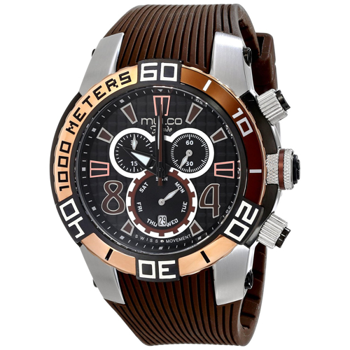 MW1-74197-035 Mulco Mens Fondo wheel Brown Band Black Dial