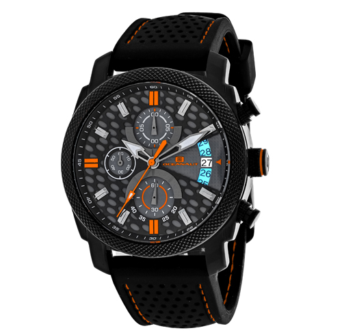 OC2323 Oceanaut Mens Kryptonite Black Band Black and Grey Dial