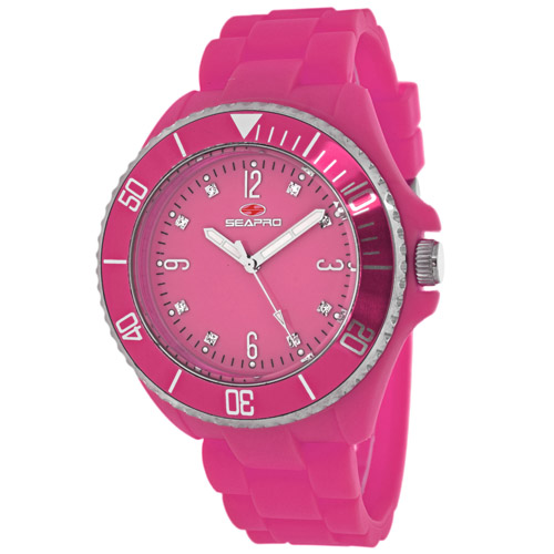 SP7416 Seapro Womens Sea Bubble Pink Band Pink Dial