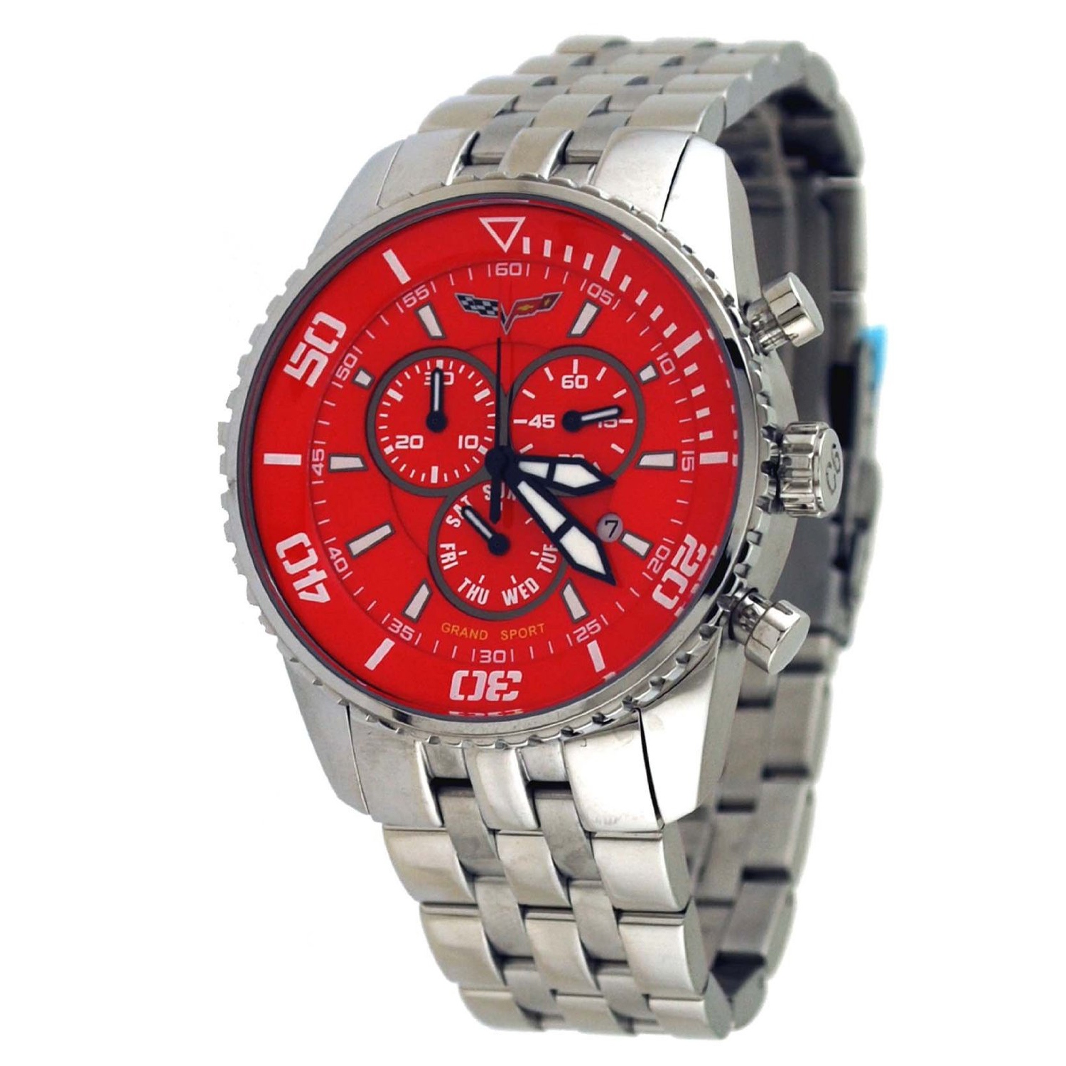 CR215-RED Corvette M Grand Sport Swiss Chronograph Red Dial