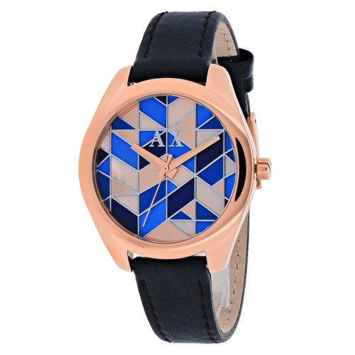 AX5525 Armani Exchange Womens Serena AX5525 Quartz Blue  Band Multi-colored mosaic Dial