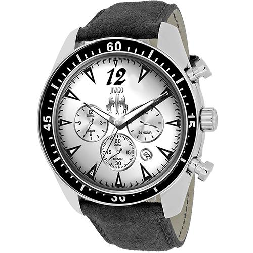 JV4510 Jivago Mens Timeless Black Band Silver Dial