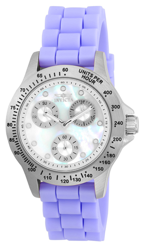 21969 Invicta Womens Speedway White Band Mother of Pearl Dial