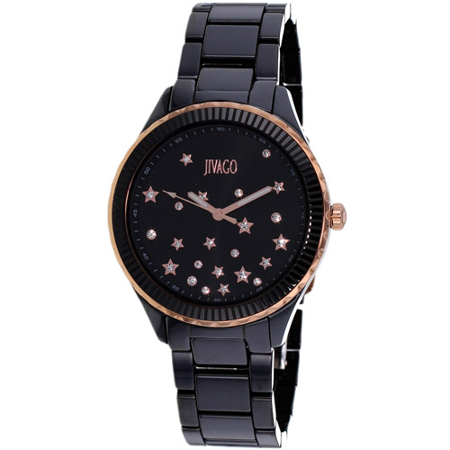 JV2413 Jivago Womens Sky Black Band Black Dial