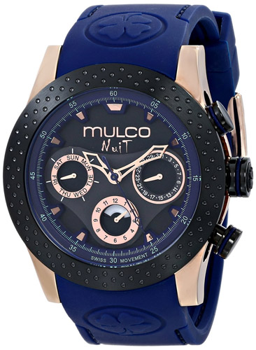 MW5-1962-445 Mulco Womens Nuit Mia Blue Band Black Dial