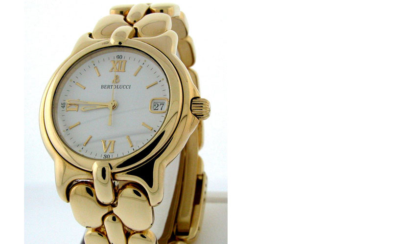 Bertolucci Pulchra - 18k Yellow Gold - White Dial - Quartz - gem from US collector