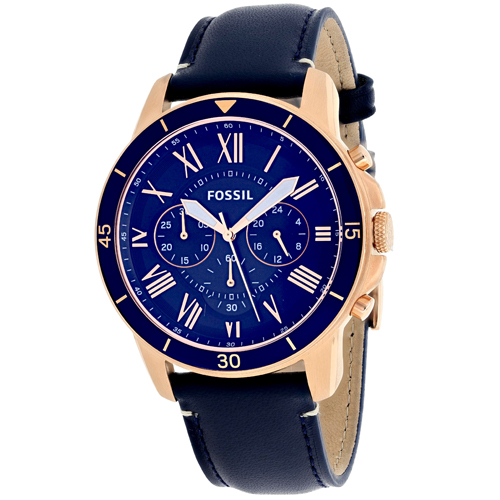 FS5237 Fossil Mens Grant Quartz Blue Band Blue Dial