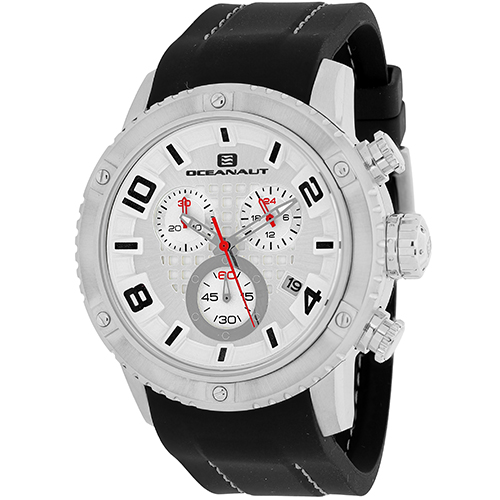 OC3121R Oceanaut Mens Impulse Sport Black Band Silver Dial
