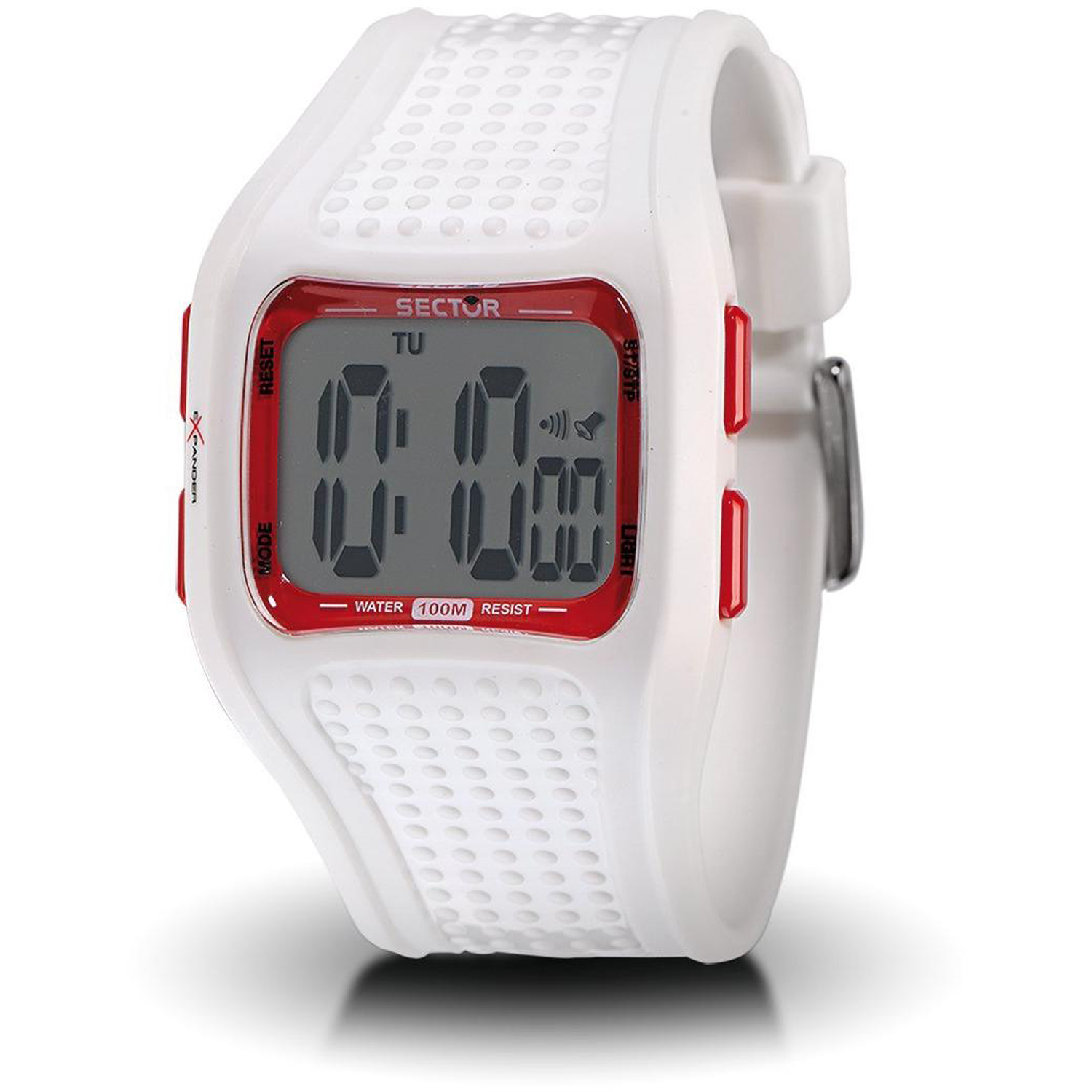 3251172015 Sector Unix Sex Expander Chronograph Digital Watch White Resin Strap