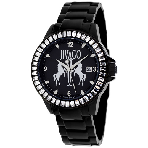 JV4210 Jivago Womens Folie Black Band Black Dial