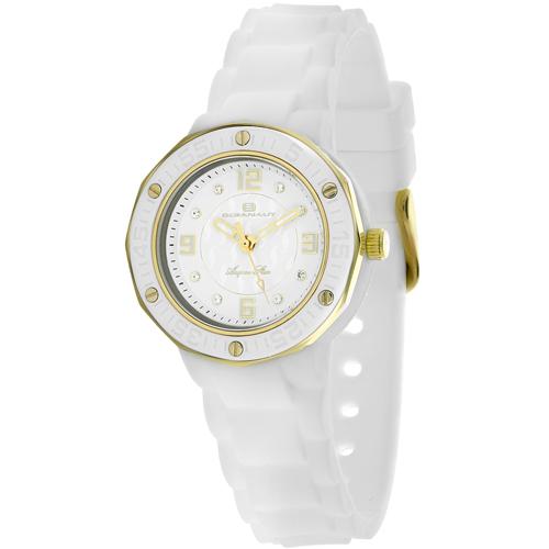 OC0430 Oceanaut Ladies Acqua Star White-Gold White Rubber Strap