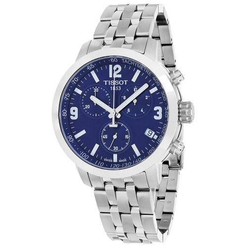 T0554171104700 Tissot Mens PRC200 T0554171104700 Silver Band Blue Dial