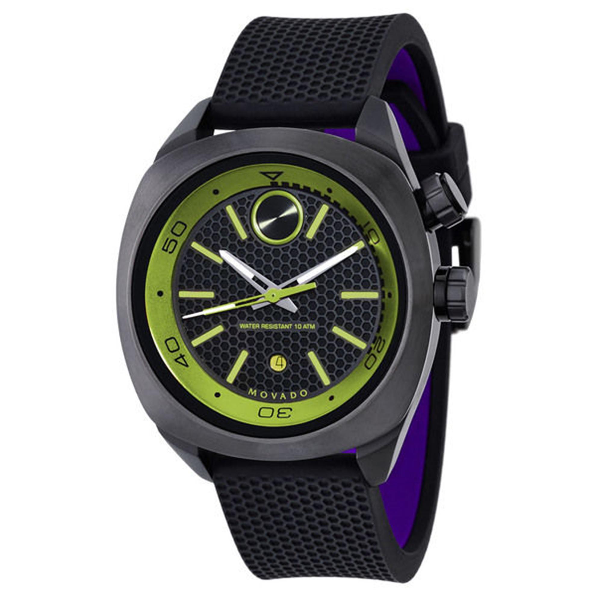 Movado 3600211 Movado Men's Bold Diver  Black/Green Rubber Strap