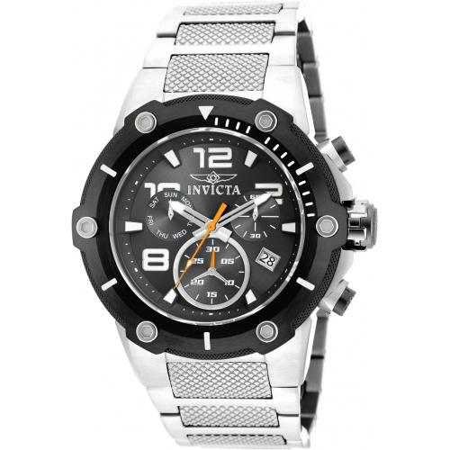 19528 Invicta Mens Speedway  Steel Band Black Dial