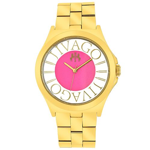 JV8413 Jivago Womens Fun Rose gold Band Pink Dial