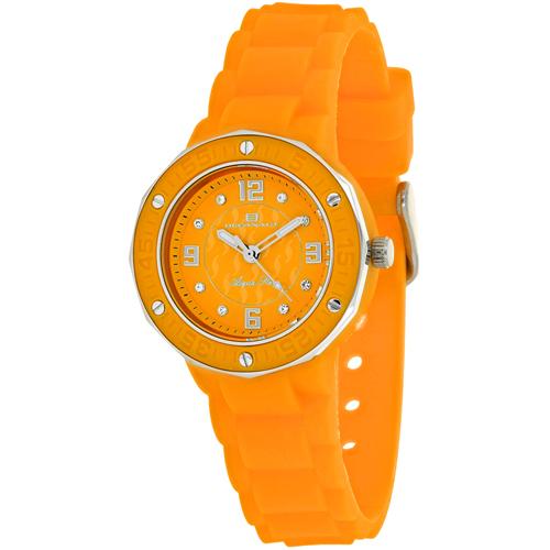 OC0435 Oceanaut Ladies Acqua Star Orange Rubber Strap