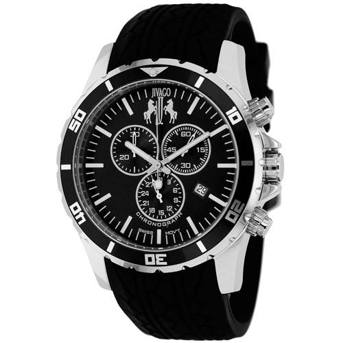 JV0121 Jivago Mens Ultimate Black Band Black Dial