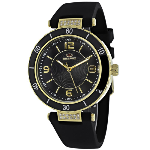 SP6412 Seapro Womens Seductive Black Band Black Dial