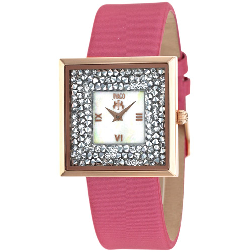 JV7413 Jivago Womens Brillance-S Pink Band White Mother of Pearl Dial