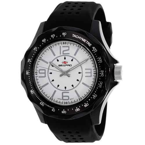SP4113 Seapro  Mens Dynamic Black Band White Dial